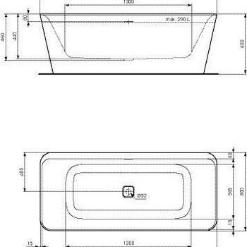 Uitverkoop toonzaalmodel: Ideal Standard Tonic II vrijstaand bad + vrijstaande badmengkraan