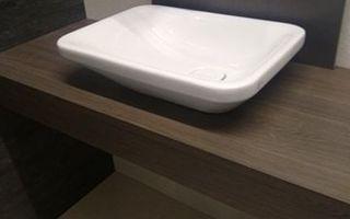 Ideal Standard: Tonic II opbouwwastafel asymmetrisch 55x40