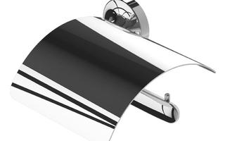 Tone toiletrolhouder met klep rechts